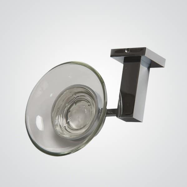 Jabonera vidrio plus jabonera de vidrio y metal cromado for Accesorios bano cristal