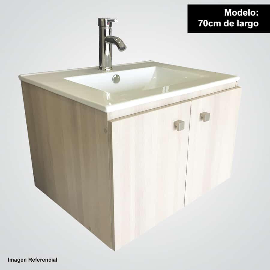 Sotille 70 acacia mueble suspendido con lavamanos sotille for Lavamanos suspendido