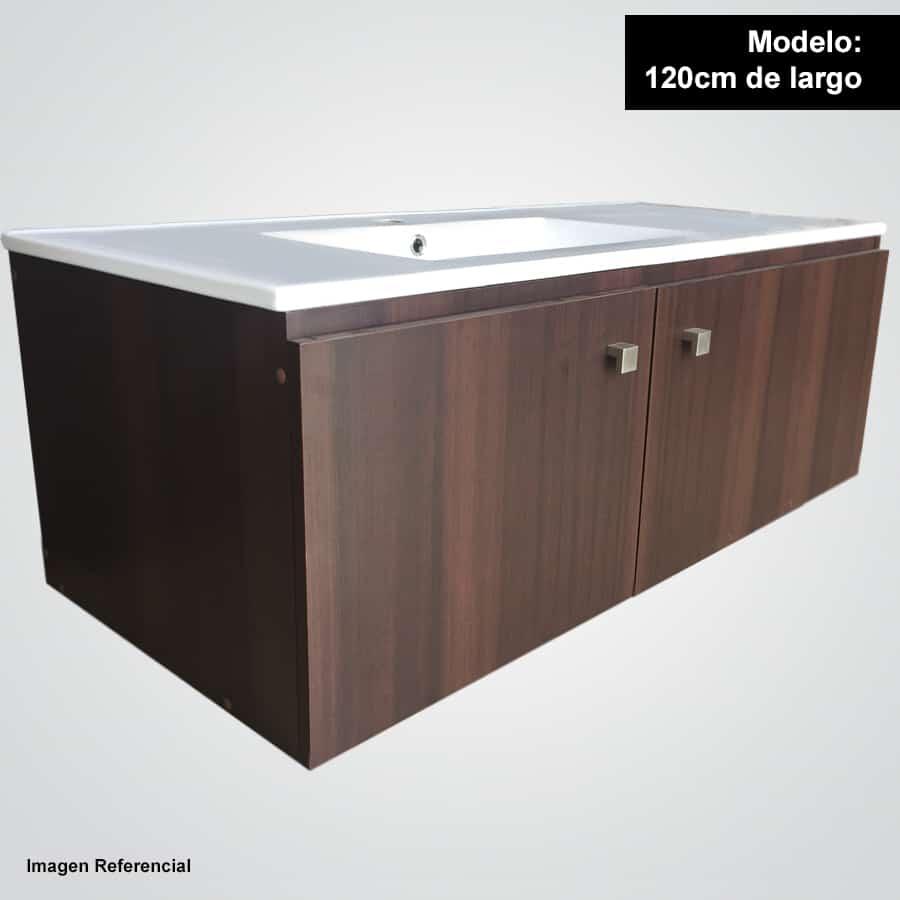Sotille 120 chocolate mueble suspendido con lavamanos for Lavamanos suspendido