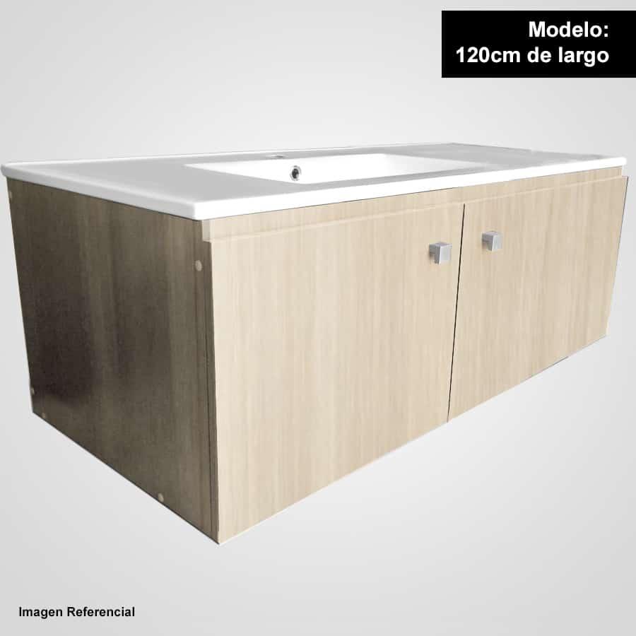 Sotille 120 acacia mueble suspendido con lavamanos sotille for Lavamanos suspendido